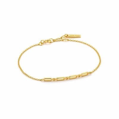 Βραχιόλι Γυναικείο ANIA HAIE Solid Bar Ασήμι gold plated Bracelet Β002-04G