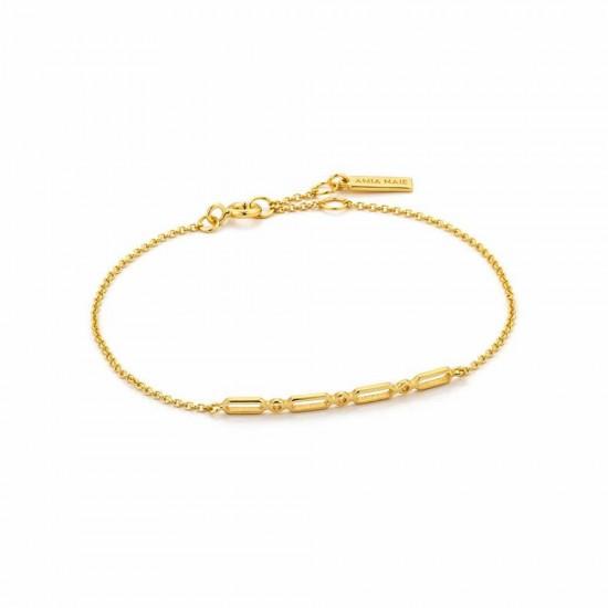 Βραχιόλι Γυναικείο ANIA HAIE Solid Bar Gold Bracelet Β002-04G,Βραχιόλι της εταιρείας ANIA HAIE με ασημένια μπάρα στο κέντρο. Το minimalistic στύλ του προσφέρει άνεση και κομψότητα στις καθημερινές εμφανίσεις μας!