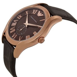 Emporio Armani Valente Rose Gold Brown Leather Strap AR1705