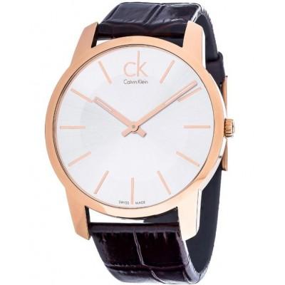 Ρολόι CALVIN KLEIN city brown leather strap K2G21629