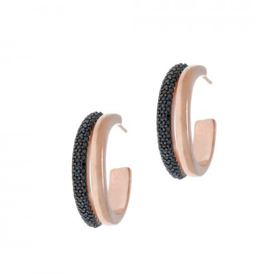 ΣΚΟΥΛΑΡΙΚΙΑ GREGIO Wanna Glow  Like a Star 54713 ασήμι pink gold plated