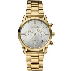 Ρολόι Gregio Madison με χρυσό μπρασελέ και ημερομηνία GR130020