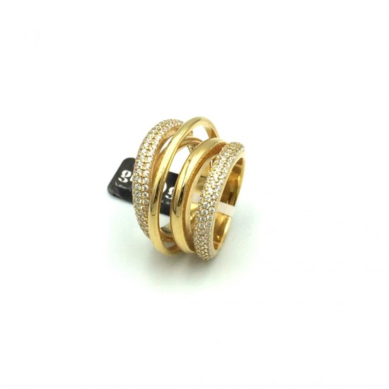 RING GREGIO Wanna Glow Like a Star 55782 Silver pink gold plated