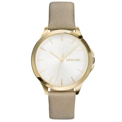 Γυναικείο ρολόι GREGIO Rosebery Grey Leather Strap GR150070