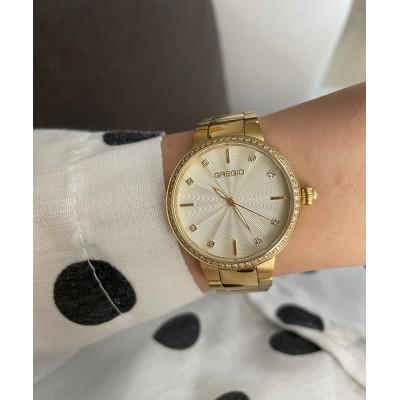 Ρολόι GREGIO LINDA CRYSTALS GOLD  GR240020