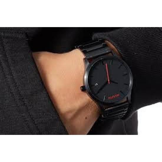 MVMT Classic Black Steel Men's Watch - DL2135B551