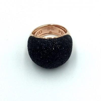Δαχτυλιδι Pesavento POLVERE DI SOGNI Black Dust Ροζ χρυσό-ασημένιο