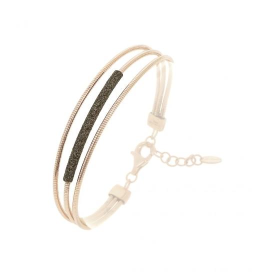 Bracelet Pesavento POLVERE DI SOGNI Silver Brown Dust Pink Gold