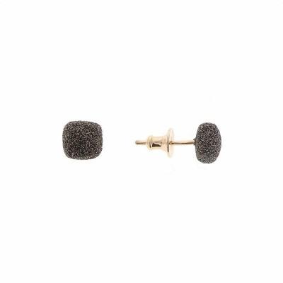 Σκουλαρίκια Pesavento POLVERE DI SOGNI Brown Dust Ροζ χρυσό-ασημένιο