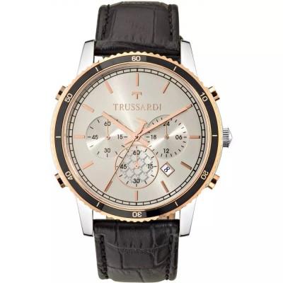 TRUSSARDI Heritage Black Leather Chronograph R2471617003