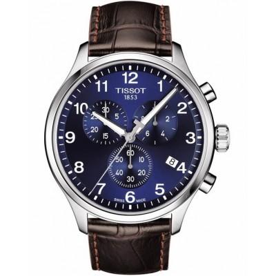 TISSOT T-Sport Chrono XL Chronograph Brown Leather Strap