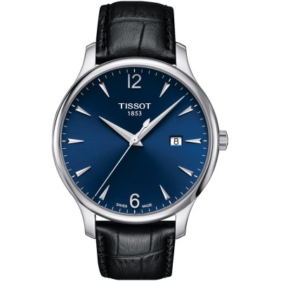 TISSOT T-Classic Tradition Black Leather Strap