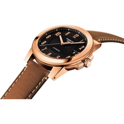 TISSOT T-Sport Gentleman Automatic Brown Leather Strap T0984073605201