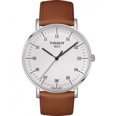 TISSOT T-Classic Everytime Big Gent Brown Leather Strap