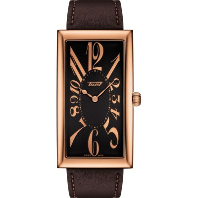 TISSOT Heritage Banana Centenary Edition Rose Gold Brown Leather Strap