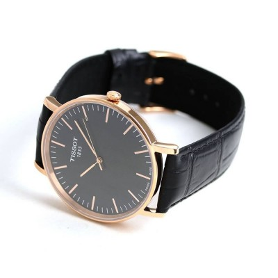 TISSOT T-Classic Everytime Black Leather Strap