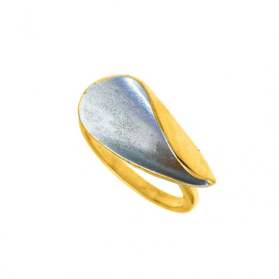 RING GREGIO COLLECTION Funky Metal / Linear 58900 Silver gold plated