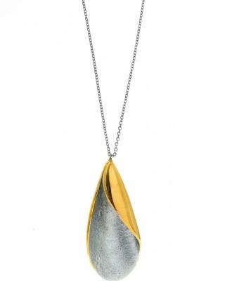 ΚΟΛΙΕ GREGIO Funky Metal  Linear 58898 ασήμι gold plated