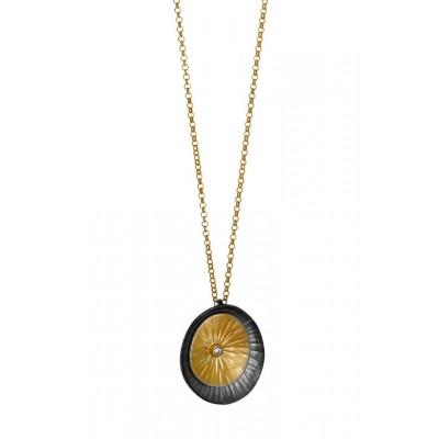 ΚΟΛΙΕ GREGIO Funky Metal Matte  56360 ασήμι gold plated