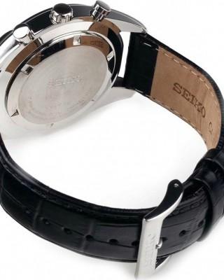 Ρολόι SEIKO  Leather Chronograph SSB183P1