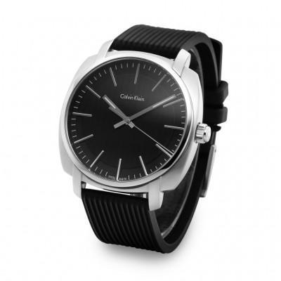 Ρολόι CALVIN KLEIN HIGHLINE μαύρο λουράκι K5M311D1