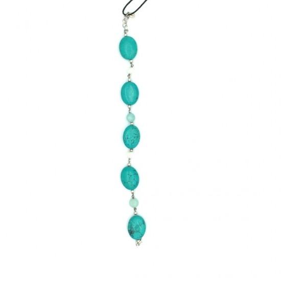 Bracelet GRECIO Silver with turquoise stones 34214