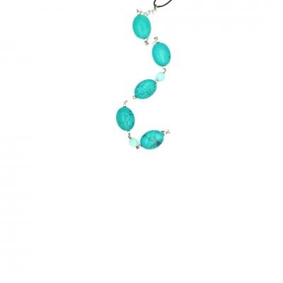 Βραχιόλι GRECIO ασήμι με πέτρες 34214