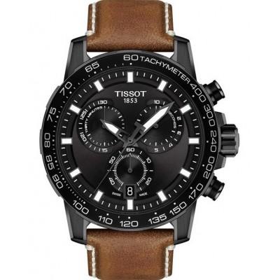 TISSOT T-Sport Chronograph Brown Leather Strap